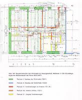 Bauperiodenplan des Wohnteils im Hauptgeschoss / Nebengebäude in 76534 Baden-Baden, Neuweier