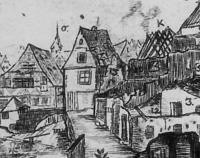 Schwoerhausbrand 1785, Detail. / Wohnhaus in 89073 Ulm