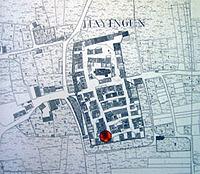 historische Flurkarte um 1830 / Ökonomiegebäude in 72534 Hayingen