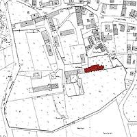 Ausschnitt Flurkarte von 1962 / Klosterkirche Mariä Himmelfahrt in 73467 Kirchheim/Ries, kein Eintrag