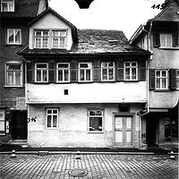 Ausschnitt photogrammetrische Aufnahme Gelbinger Gasse 51, 1976 / Fassadenabwicklung ungerade Hausnummern in 74523 Schwäbisch Hall