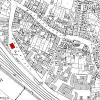Ausschnitt Flurkarte 1954 (Vorlage LV-BW) Alter Standort des Alten Rathauses / Altes Rathaus in 73207 Plochingen