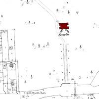 Ausschnitt Flurkarte um 1970 (Vorlage LV-BW) / Schloss Favorite in 71642 Ludwigsburg, Favoriteschloß