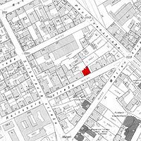 Ausschnitt Flurkarte 1966 (Vorlage LV-BW) / Wohnhaus in 70178 Stuttgart, Stuttgart-West