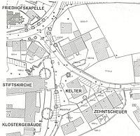 Lageplan / Kloster- bzw. Zehntscheune in 73770 Denkendorf
