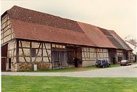 Ansicht von Nordosten (April 1996) / Kloster- bzw. Zehntscheune in 73770 Denkendorf