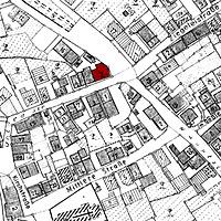 Ausschnitt Flurkarte um 1970 (?) (Vorlage LV-BW) / Gasthaus Rössle in 72636 Frickenhausen