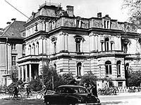Aufnahme um 1950 (?) (Vorlage Stadtarchiv Heidelberg) / ehem. Amerikahaus (Villa Landfried) in 69115 Heidelberg, kein Eintrag