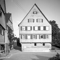 Photogrammetrische Aufnahme Ansicht West, 1976 / ehem. Pfarrhaus in 73650 Winterbach