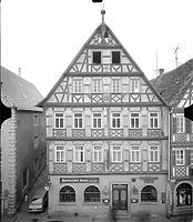 Photogrammetrische Aufnahme Ansicht Ost, 1976 / Gasthaus Straußen in 97980 Bad Mergentheim