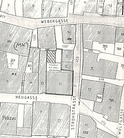 Lageplan 1992 / Haus zum Wolf in 73728 Esslingen am Neckar