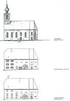 Heidelsheim, Luthergasse 11, ehem. Lutherkirche, Bauzustände / ehem. Lutherkirche in 76646 Bruchsal-Heidelsheim