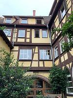 Ansicht Innenhof, Nordfassade / Ehem. Bebenhäuser Pfleghof, Steinhaus in 73728 Esslingen am Neckar (06.06.2019 - strebewerk.Architekten)
