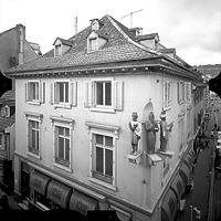 Photogrammetrische Aufnahme von Nordost, 1977 / Dreikönigshaus in 79539 Lörrach
