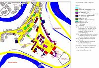 Baualtersplan der jüdischen Häuser in Haigerloch. / Haagschloss, später Judenhaag in 72401 Haigerloch (01.12.1998 - Michael Hermann)