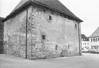 Ansicht von Nordosten vor der Sanierung. Quelle Seidel, Armin, 1994. / Ehem. Zehntscheuer in 72160 Bildechingen