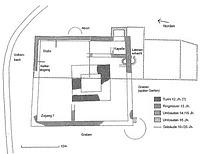Grundriss entnommen von EBIDAT: http://www.ms-visucom.de/cgi-bin/ebidat.pl?a=d&te1=1659 / ehem. unteres Schloss in 79798 Jestetten