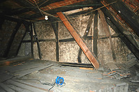 Blick zum Nordgiebel (1513/14) / Wohnhaus in 97896 Freudenberg/Main (11.09.2007)