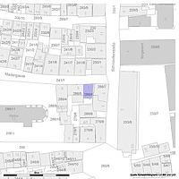 Lageplan (Vorlage: LV-BW und LAD) / Wohn- und Geschäftshaus in 72070 Tübingen