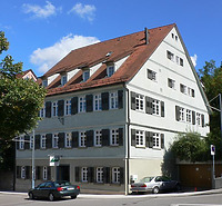 Südwestansicht, August 2007. Foto: Dietmar Hencke (StadtA SHA Server Häuserlexikon) / Wohnhaus in 74523 Schwäbisch Hall