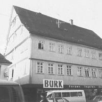 Ansicht von Südwesten 1972 - Quelle: www.bildindex.de / Fachwerkhaus in 72764 Reutlingen