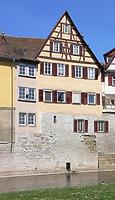 Seite zum Kocher, 2007. Foto: Dietmar Hencke (StadtA SHA Server Häuserlexikon) / Fachwerkhaus in 74523 Schwäbisch Hall