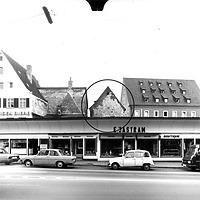 Ausschnitt photogrammetrische Aufnahme Ansicht von West, 1979 / Nikolauskapelle in 89073 Ulm