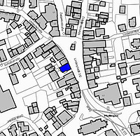 Ausschnitt Liegenschaftskataster / Wohn- und Geschäftshaus in 72793 Pfullingen
