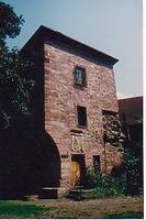 Archivbau mit Abbruch ehem. Ringmauer, von Nordwesten. / Ehemalige Burg bei der Schlosskirche in 75175 Pforzheim, kein Eintrag