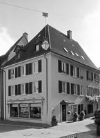 Südwestansicht des Gebäudes / Wohn- und Geschäftshaus in 79219 Staufen, Staufen im Breisgau (Stadtarchiv Staufen)