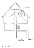 Querschnitt, Ausschnitt / Wohn- und Geschäftshaus in 79219 Staufen, Staufen im Breisgau (01.02.1998 - Burghard Lohrum)