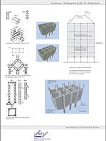 Schematafel zum statischen System des Silogebäudes / Silogebäude in 74582 Gerabronn