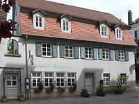 Frontalansicht. Bild aus dem Juni 2007. Foto: Dietmar Hencke (StadtA SHA Server Häuserlexikon) / Gastwirtschaft zum Blauen Bock in 74523 Schwäbisch Hall