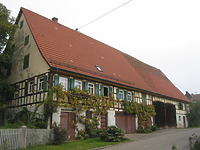 Ansicht des Gebäudes von Südwesten (2007) / Streckgehöft in 71522 Backnang-Oberschöntal