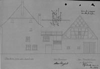 Skizze von 1937 / Wohn- und Geschäftshaus in 79219 Staufen, Staufen im Breisgau (21.09.1937 - Stadtarchiv Staufen)