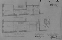 Grundriss 1. Obergeschoss, Zustand und Neuplanung von 1937 / Wohn- und Geschäftshaus in 79219 Staufen, Staufen im Breisgau (21.09.1937 - Stadtarchiv Staufen)