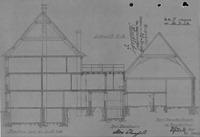 Querschnitt von 1937 / Wohn- und Geschäftshaus in 79219 Staufen, Staufen im Breisgau (21.09.1937 - Stadtarchiv Staufen)