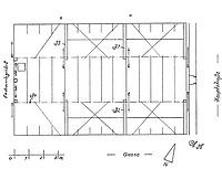 Grundriss 1. Dachgeschoss, Ausschnitt. / Wohn- und Geschäftshaus in 79219 Staufen, Staufen im Breisgau (01.01.1995 - Burghard Lohrum)