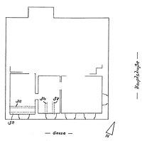 Grundriss 1. Obergeschoss / Wohn- und Geschäftshaus in 79219 Staufen, Staufen im Breisgau (01.01.1995 - Burghard Lohrum)