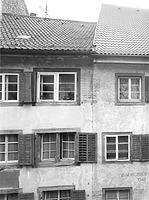 Photogrammetrische Aufnahme Wessenbergstrasse 14/12 von West, 1982 / Fassadenabwicklung Wessenbergstrasse 10-20 + Salmannsweilergasse 36 in 78462 Konstanz