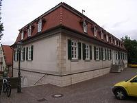 Ansicht von Süden / Schulgebäude; ehemalige Lateinschule in 74354 Besigheim (Denkmalpflegerischer Werteplan, Gesamtanlage Besigheim, Regierungspräsidium Stuttgart)