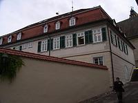 Ansicht von Nordwest / Schulgebäude; ehemalige Lateinschule in 74354 Besigheim (Denkmalpflegerischer Werteplan, Gesamtanlage Besigheim, Regierungspräsidium Stuttgart)