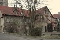 Ansicht von Süden, Wohnhau und Scheune / Wohnhaus mit Scheune (ehem. Torwächterhaus am Oberen Tor) in 74354 Besigheim (2014 - M. Haußmann)