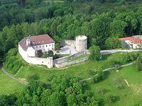 Luftbild von Schloss Ebersberg / Schloss in 71549 Ebersberg (30.11.2011 - Quelle: Hompage der Gemeinde Auenwald (http://www.auenwald.de/index.php?id=59))