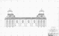 Belvedere, ehem. Schießhaus, Ansicht von Osten, Urheber: Fischer (Ingenieurbüro für Photogrammetrie) / Belvedere, ehem. Schießhaus in 76646 Bruchsal