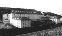 Ehem. Spinnerei, Ansicht von Südosten, Urheber: Regierungspräsidium Karlsruhe, RPK, Ref. 26 / Ehem. Spinnerei in 76275 Ettlingen, kein Eintrag