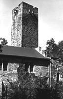 Bergfried  Urheber: Regierungspräsidium Karlsruhe, RPK, Ref. 26 / Bergfried in 75056 Sulzfeld, Ravensburg