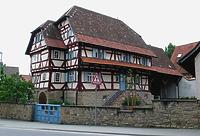 Fachwerkhaus, Ansicht von Nordwesten, Urheber: Regierungspräsidium Karlsruhe, RPK, Ref. 26 / Fachwerkhaus in 76698 Ubstadt-Weiher-Zeutern