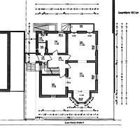Villa Götte, Grundriss Erdgeschoss,  Urheber: Architekturbüro Paus, Wolfram / Villa Götte  in 69120 Heidelberg-Neuenheim