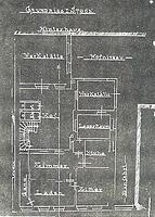 Wohn- und Geschäftshaus, Grundriss EG, um 1900, Urheber: Marburg, Freies Institut für Bauforschung und Dokumentation e.V. / Wohn- und Geschäftshaus in 69117 Heidelberg-Altstadt
